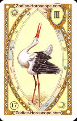 The stork, monthly Love and Health horoscope September Libra