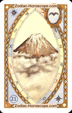 The mountain astrological Lenormand Tarot