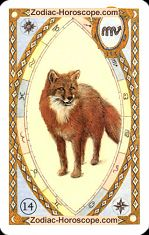 The fox astrological Lenormand Tarot