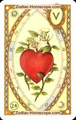 The heart astrological Lenormand Tarot