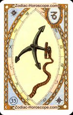 The anchor astrological Lenormand Tarot